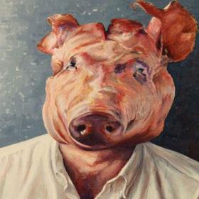 آمیژه: خوکهایی با اندام انسان
